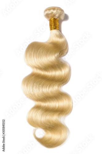 Tela body wave wavy bleached blonde human hair weaves extensions bundle