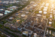 Aerial View Of Oil And Gas Ind...
