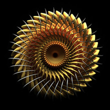 3d Render Of Abstract Turbine ...