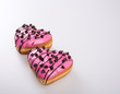 canvas print picture Donut or Heart Shaped Donut on a background new.