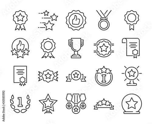 Fotomural 20 Awards icons