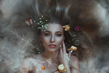 Mystical Autumn Beauty Portrai...