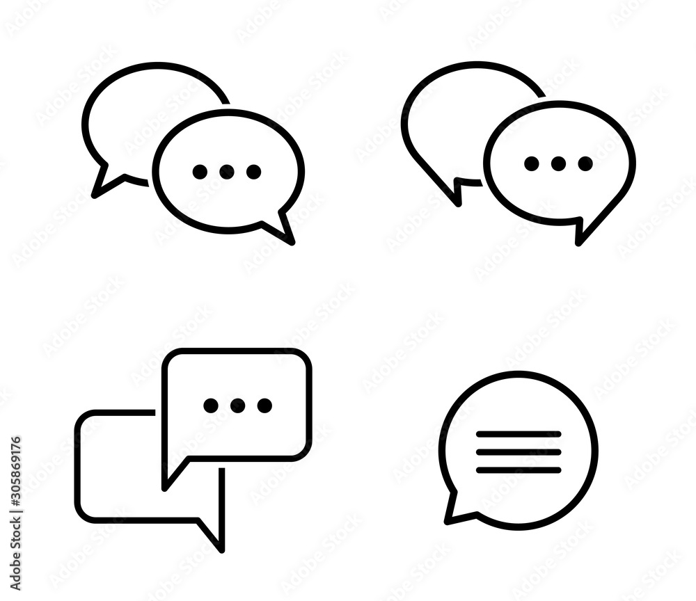 Fototapeta 吹き出しの会話アイコンセット