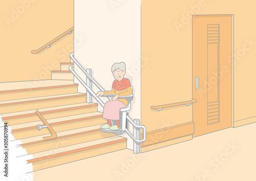 Valokuva 階段イラスト