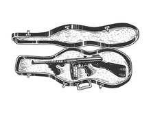 Thompson Submachine Gun In Vio...