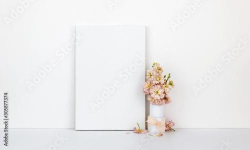 Obraz Canvas mock up, flowers - fototapety do salonu