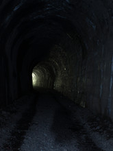Abandoned Old Tunnel  With Sto...