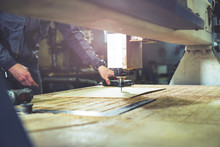 Cnc Wood Milling Machine Setting. Carpentry Background.