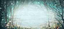 Abstract Winter Forest Backgro...