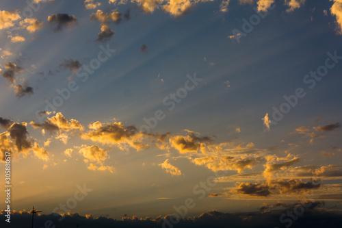 Foto di un tramonto scattata a Tassarolo. Canvas Print