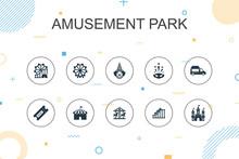 Amusement Park Trendy Infograp...