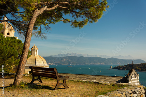 Foto scattata a Portovenere nei pressi del Castello Doria. Tablou Canvas