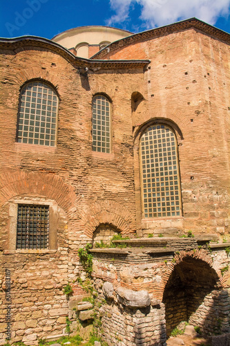 The exterior of the sixth century Hagia Eirene, also called Hagia Irene and Aya Canvas Print