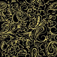 Vintage Seamless Gold Pattern....