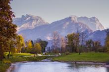Beautiful Alpine Scenerey With...