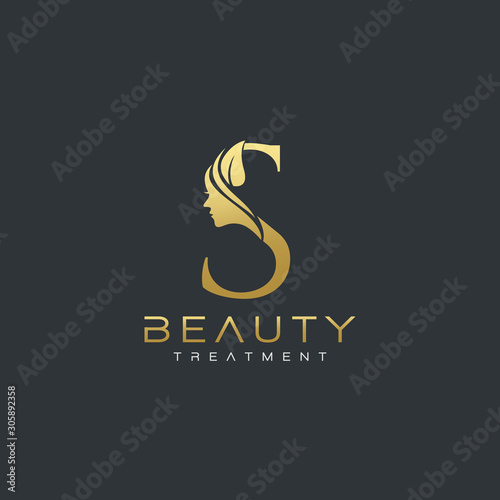 S Letter Luxury Beauty Face Logo Design Vector Buy This Stock Vector And Explore Similar Vectors At Adobe Stock Adobe Stock