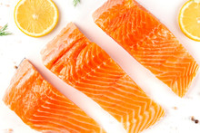 Slices Of Salmon With Lemon, A...