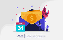 Illustration Concept Of Salary...