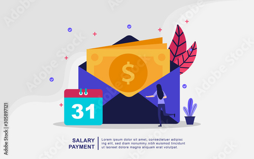 Valokuva Illustration concept of salary payment