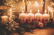 Christmas Candles And Decorati...