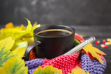 Autumn Still Life: A Cup Of Ho...