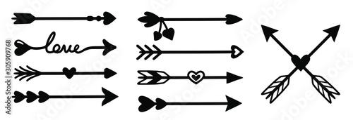 Fotomural arrow decoration set.