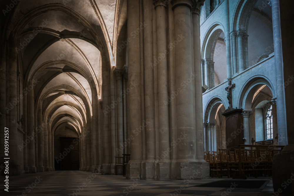Fototapeta Architecture and grandeur of Cathedrals and Temples in France