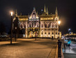 Budapest parliament from side at night