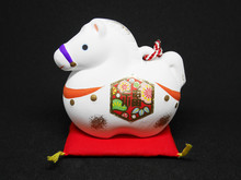 Chinese Zodiac Sign Year Of Horse,Happy Chinese New Year Of The Horse (Side View)