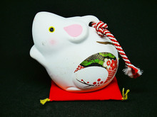 Chinese Zodiac Sign Year Of RAT, Pig,Happy Chinese New Year 2020 Year Of The Rat (Side View)