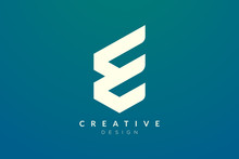 Initial Monogram Logo Design Letter E. Simple And Modern Vector Design For Business Brand And Product.