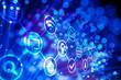 テクノロジーとネットワークのアブストラクトイメージ