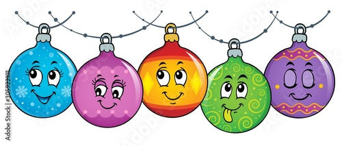 Foto auf Leinwand Für Kinder Happy Christmas ornaments theme image 3