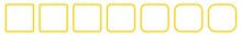 Square Icon Yellow   Round Squares   Foursquare Symbol   Frame Logo   Button Sign   Isolated   Variations