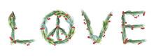 Watercolor Peace Symbol. Chris...