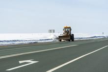 Snowplow Cleans The Highway Fr...