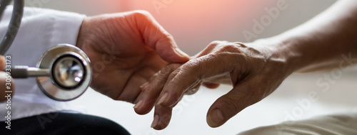 Stampa su Tela Geriatric doctor or geriatrician concept