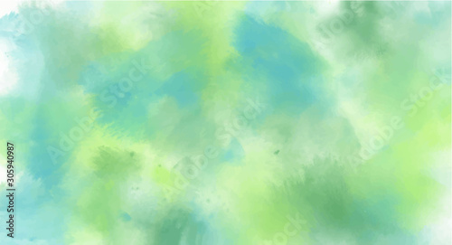 Obraz Green watercolor background for your design, watercolor background concept, vector. - fototapety do salonu