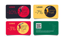 Set Of Discount Cards With Fue...