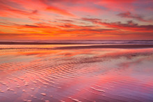 Beautiful Sunset And Reflectio...