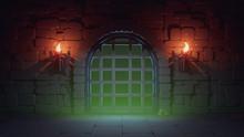 Concept Art Prison In Dark Med...