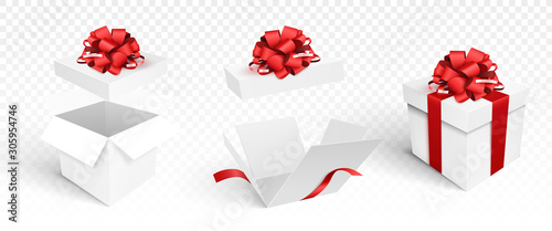 Photo Gift boxes template isolated