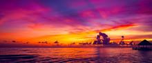 Sun Sea Tropical Sunset View O...