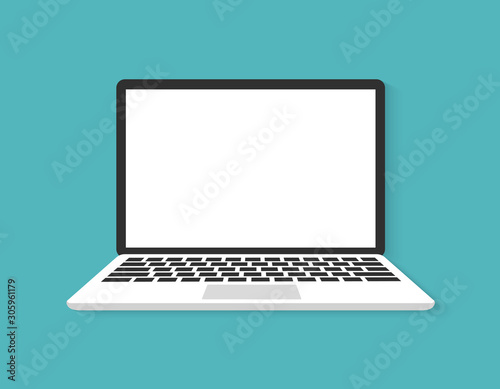 Carta da parati  Laptop flat vector icon illustration