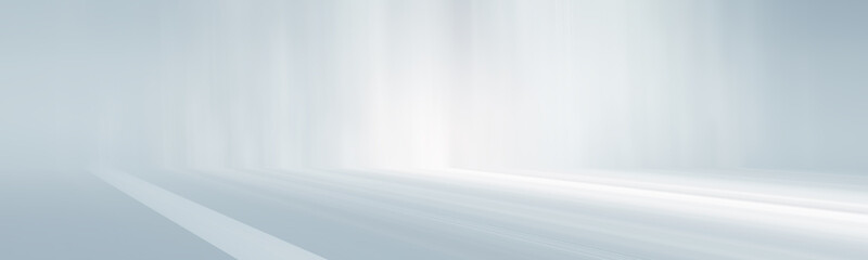panorama white and gray empty room studio gradient used for background and di...