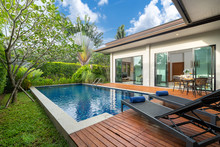 Swimming Pool And Decking In G...
