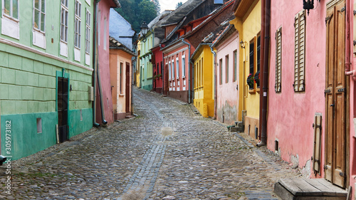 The City of Sighisoara in Romania, Europe Fototapet