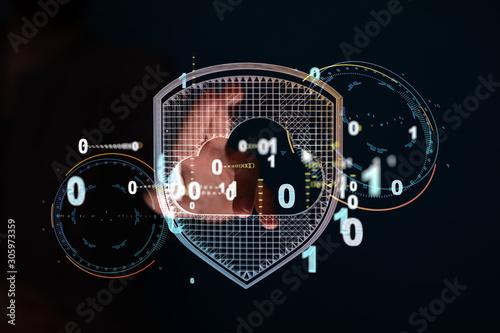 Binary Code String Aggregation Rises.Big data Convergence. Canvas Print
