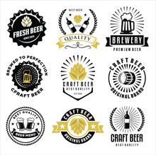 Set Of Craft Beer Company Badg...