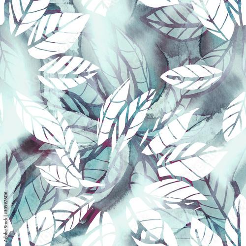 kwiatowy-wzor-akwarela-ilustracja-lisci